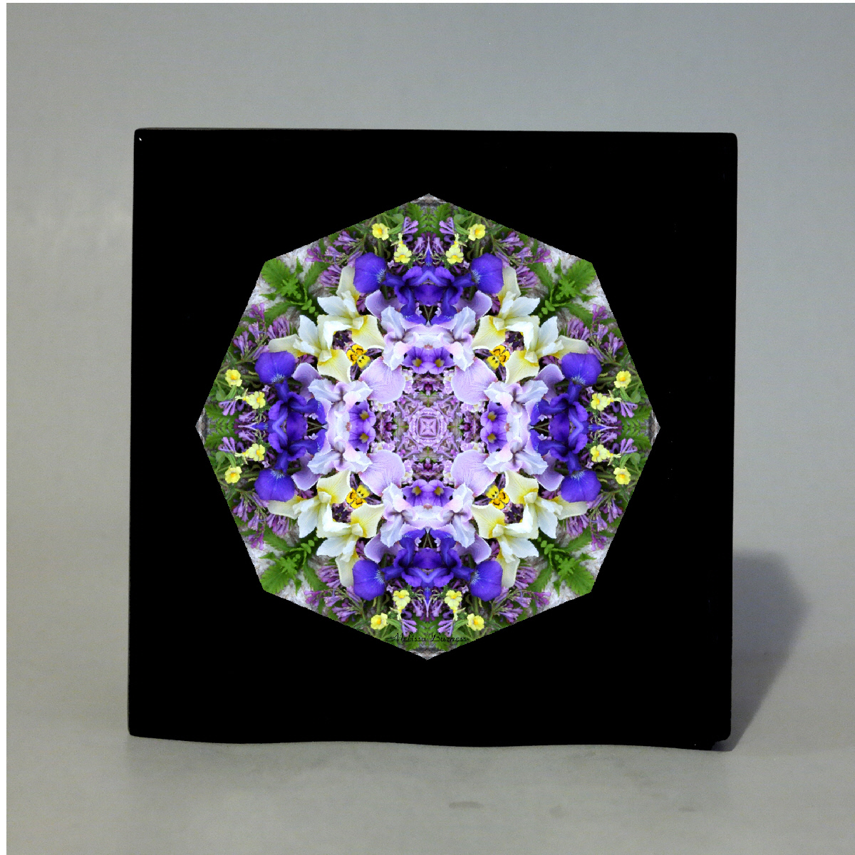 Iris Music Box With Ceramic Tile Top Boho Mandala New Age Sacred Geometry Eternal Elation