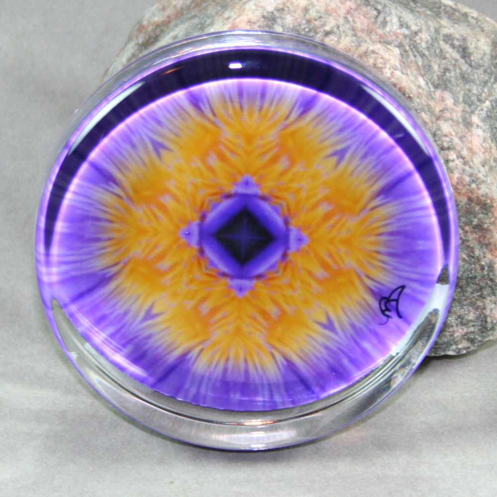 Water Lily Paperweight Mandala Sacred Geometry Kaleidoscope Eye of the Beholder