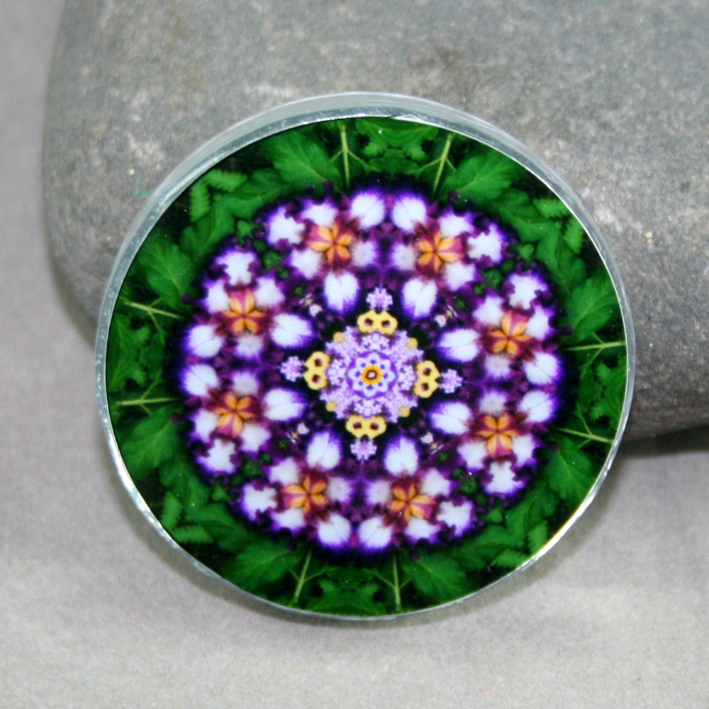 Iris Magnet Sacred Geometry Mandala Kaleidoscope Faithfully Yours
