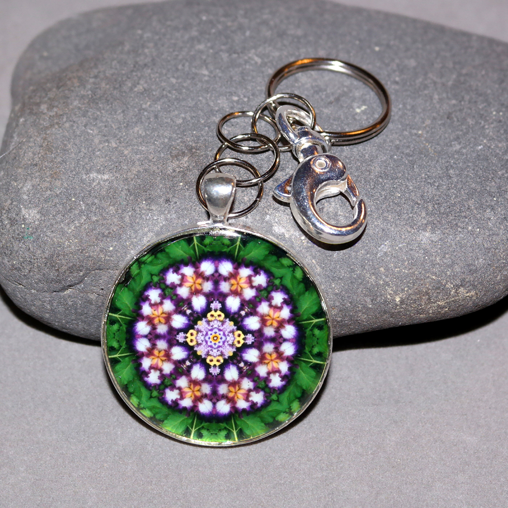 Iris Key Chain Sacred Geometry Mandala Faithfully Yours