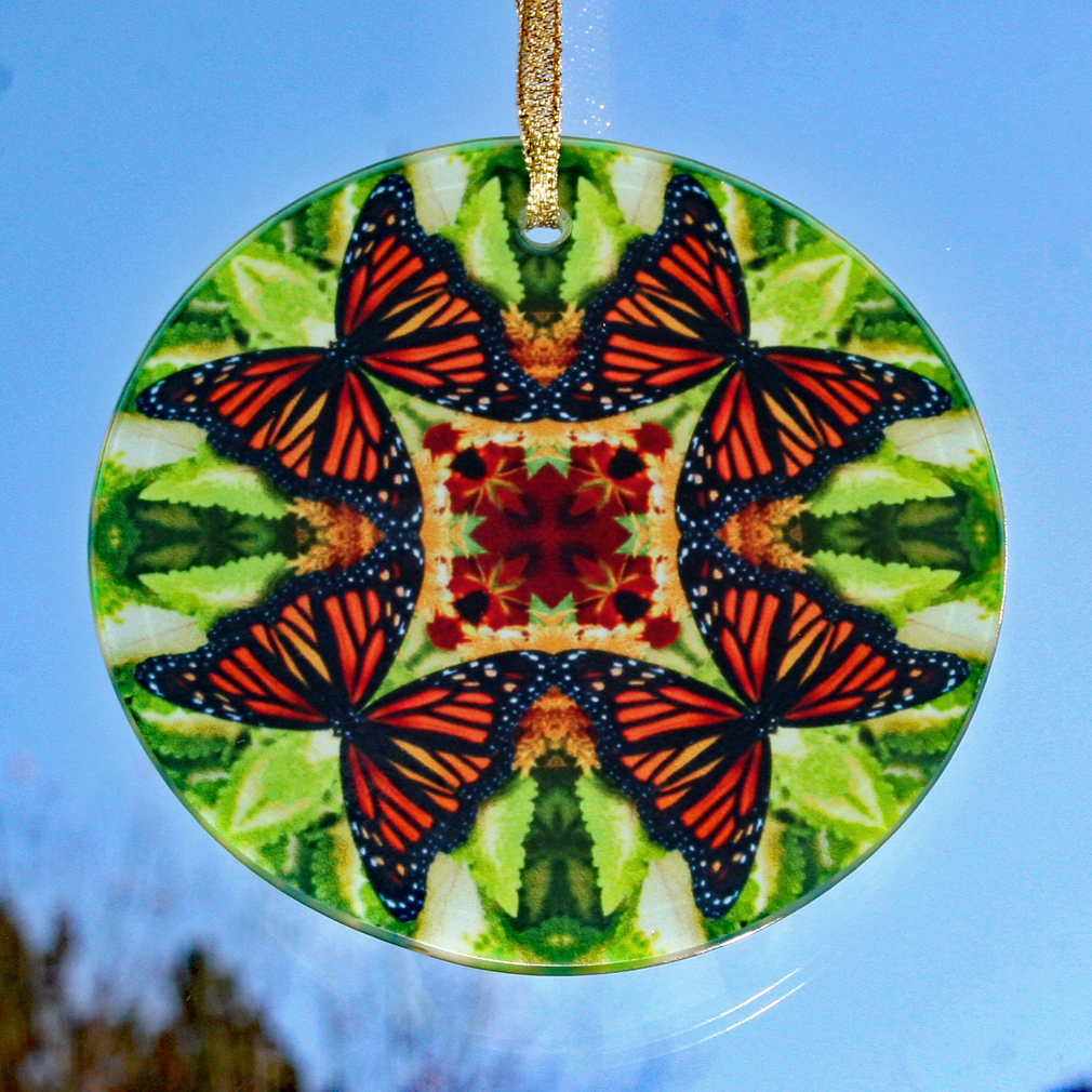 Monarch Butterfly Glass Suncatcher Home Decor Ornament Window Decor Mandala Meditation Zen Unique Gift For Her Yoga Gift 8