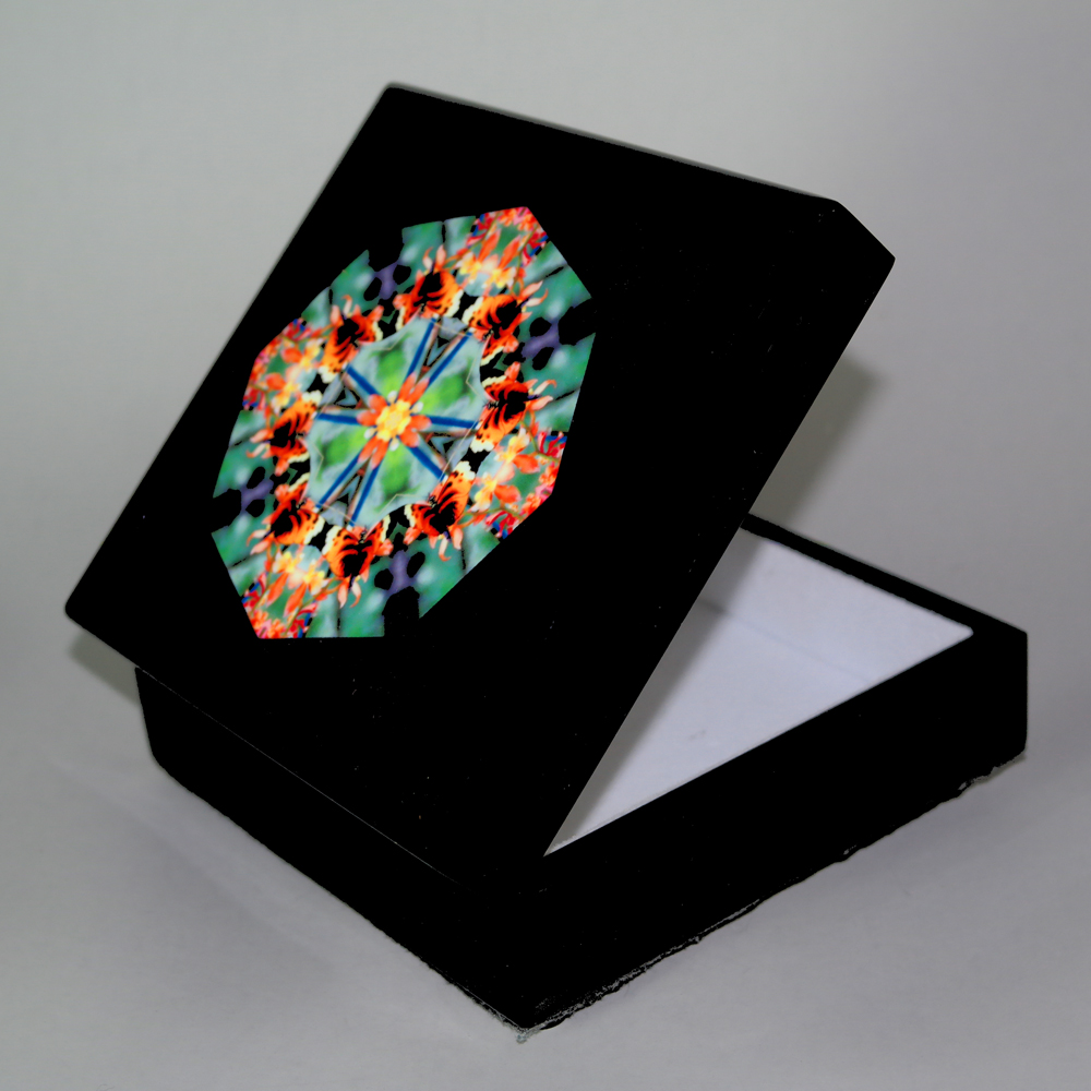 Butterfly Music Box Keepsake Box Boho Chic Mandala New Age Sacred Geometry Hippie Kaleidoscope Gaeas Rhapsody