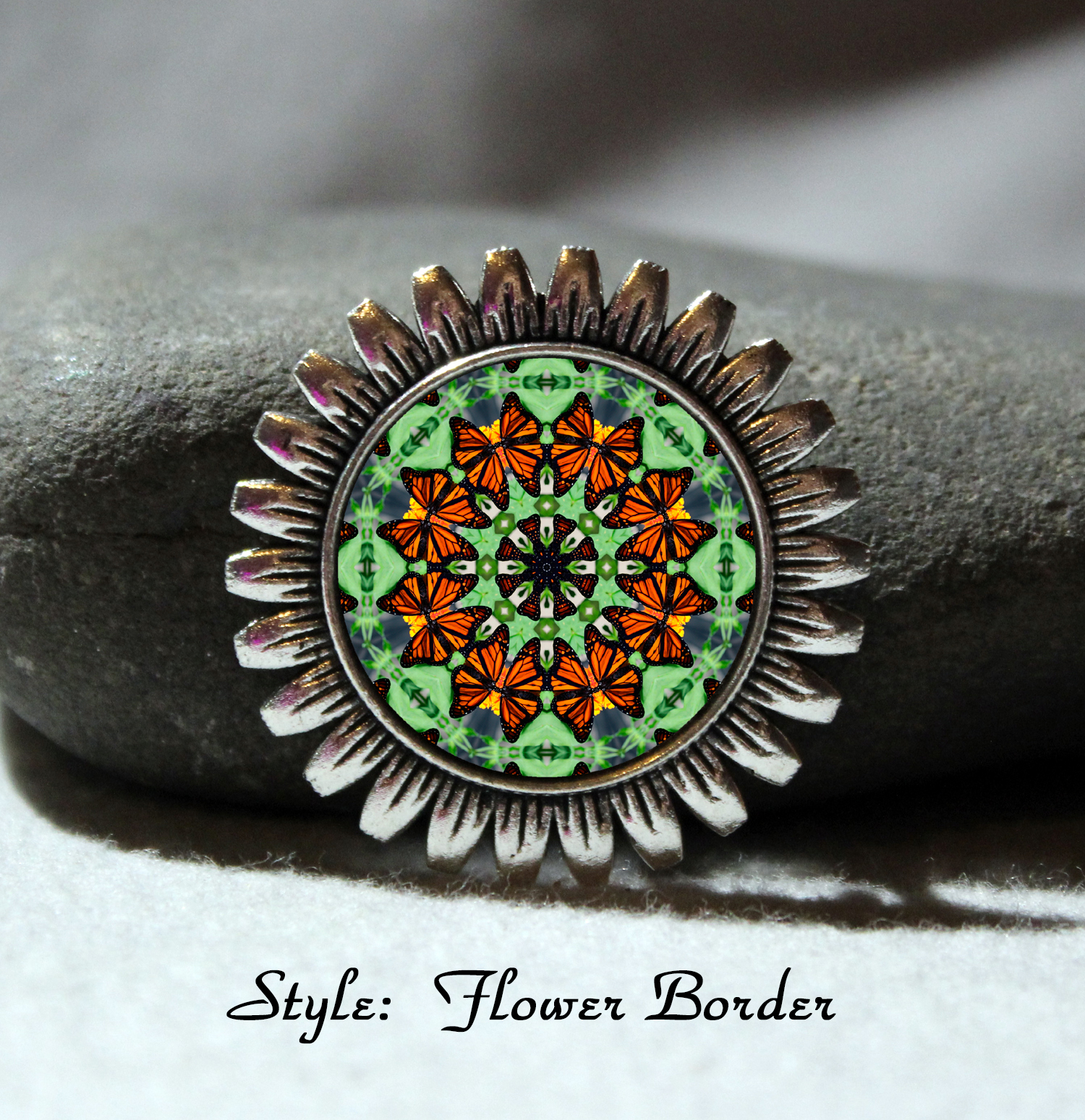 Brooch Lapel Pin Collar Pin Hat Pin Scarf Pin Monarch Butterfly Mandala Sacred Geometry Unique Gift For Her Guardian Angel