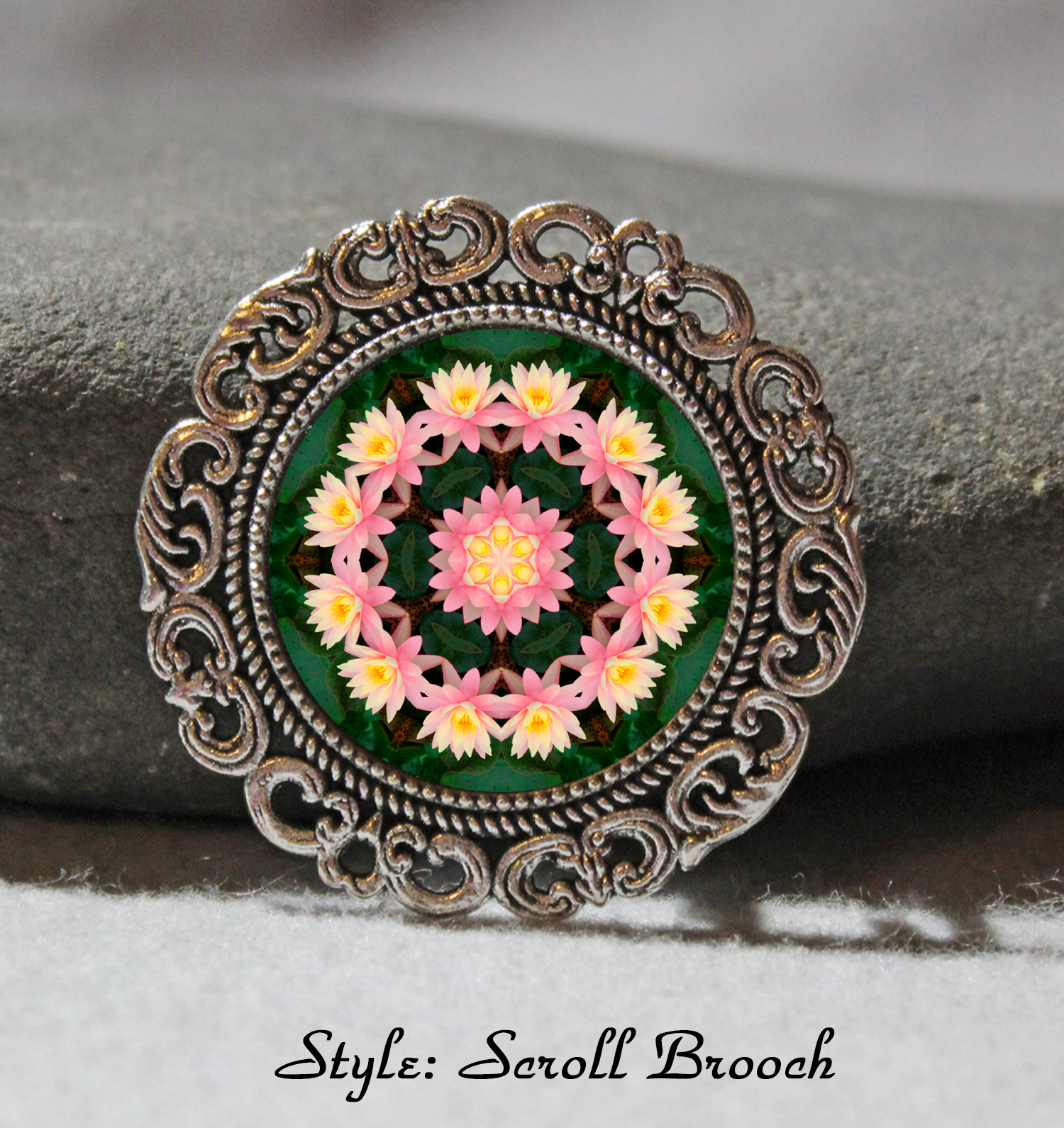 Brooch Lapel Pin Collar Pin Hat Pin Scarf Pin Lotus Flower Chakra Mandala Sacred Geometry Unique Gift For Her Illumination 1