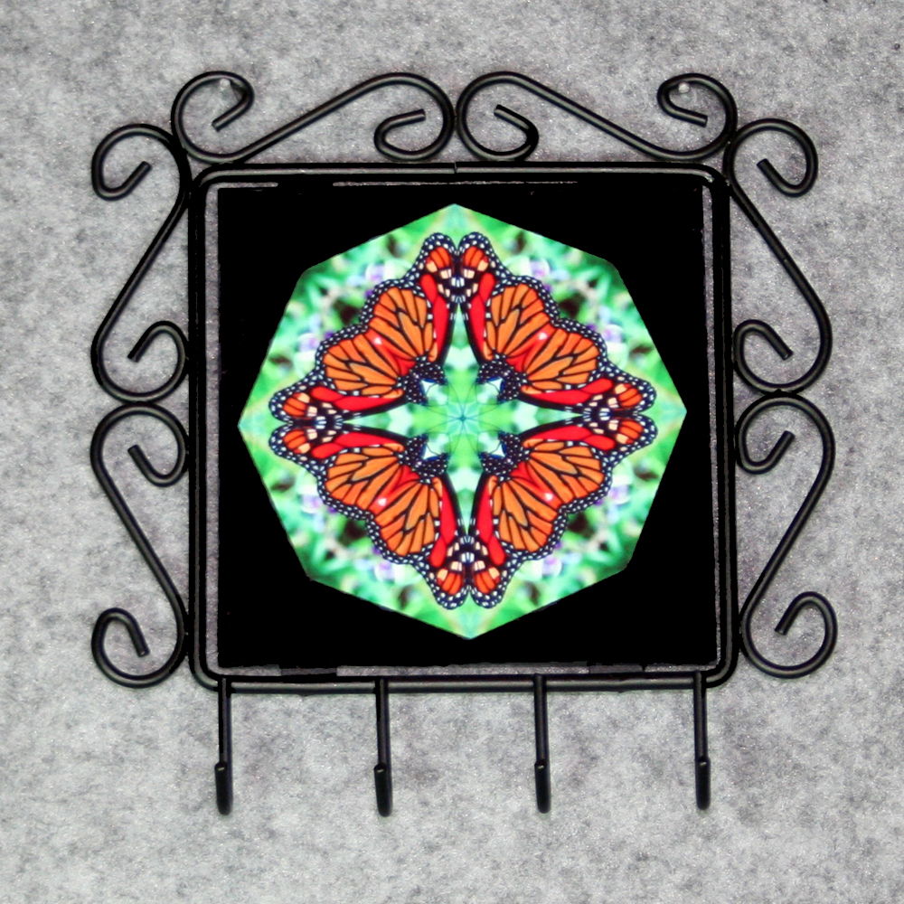 Butterfly Utensil Rack Sacred Geometry Mandala Kaleidoscope Jeweled Jubilee