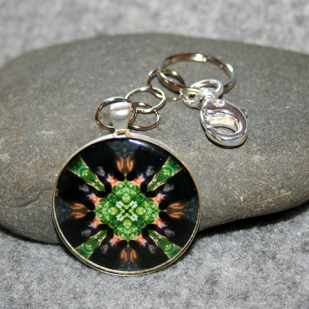 Bear Key Chain Sacred Geometry Mandala Magnanimous