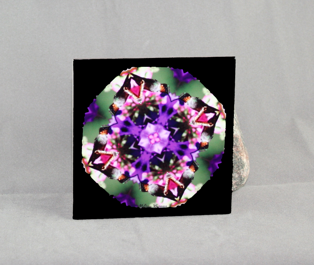 Hummingbird Decorative Ceramic Tile Coaster Trivet Sacred Geometry Mandala Miniature Marvel