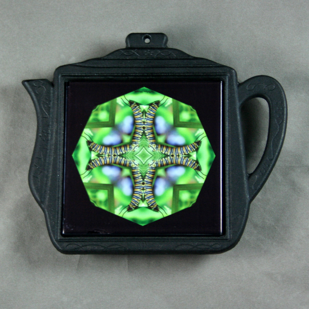 Caterpillar Trivet Cast Iron Teapot Mandala Sacred Geometry Kaleidoscope Miracle