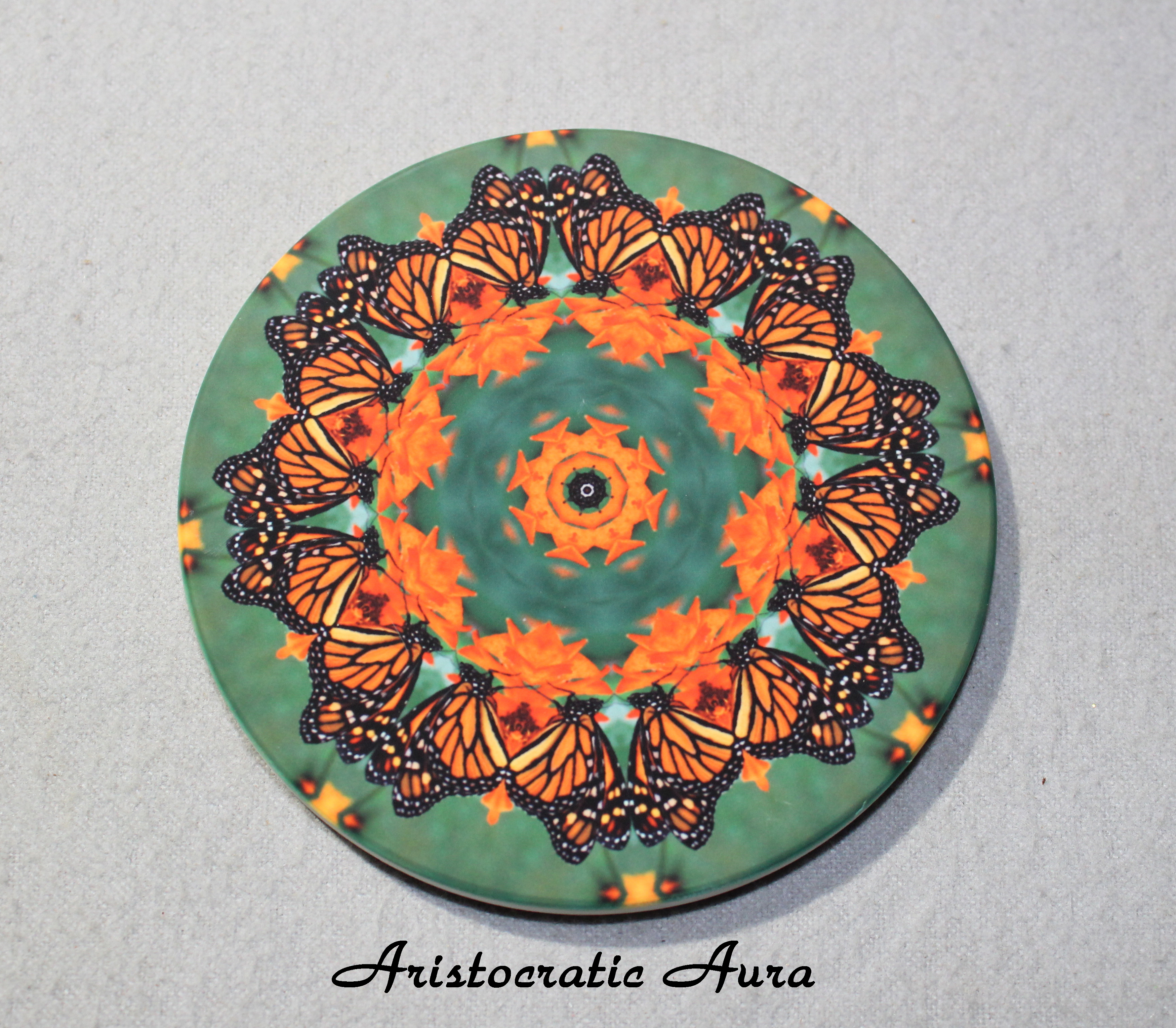 Coaster Drink Sandstone Custom Coasters Monarch Butterfly Nature Decor Aristocratic Aura
