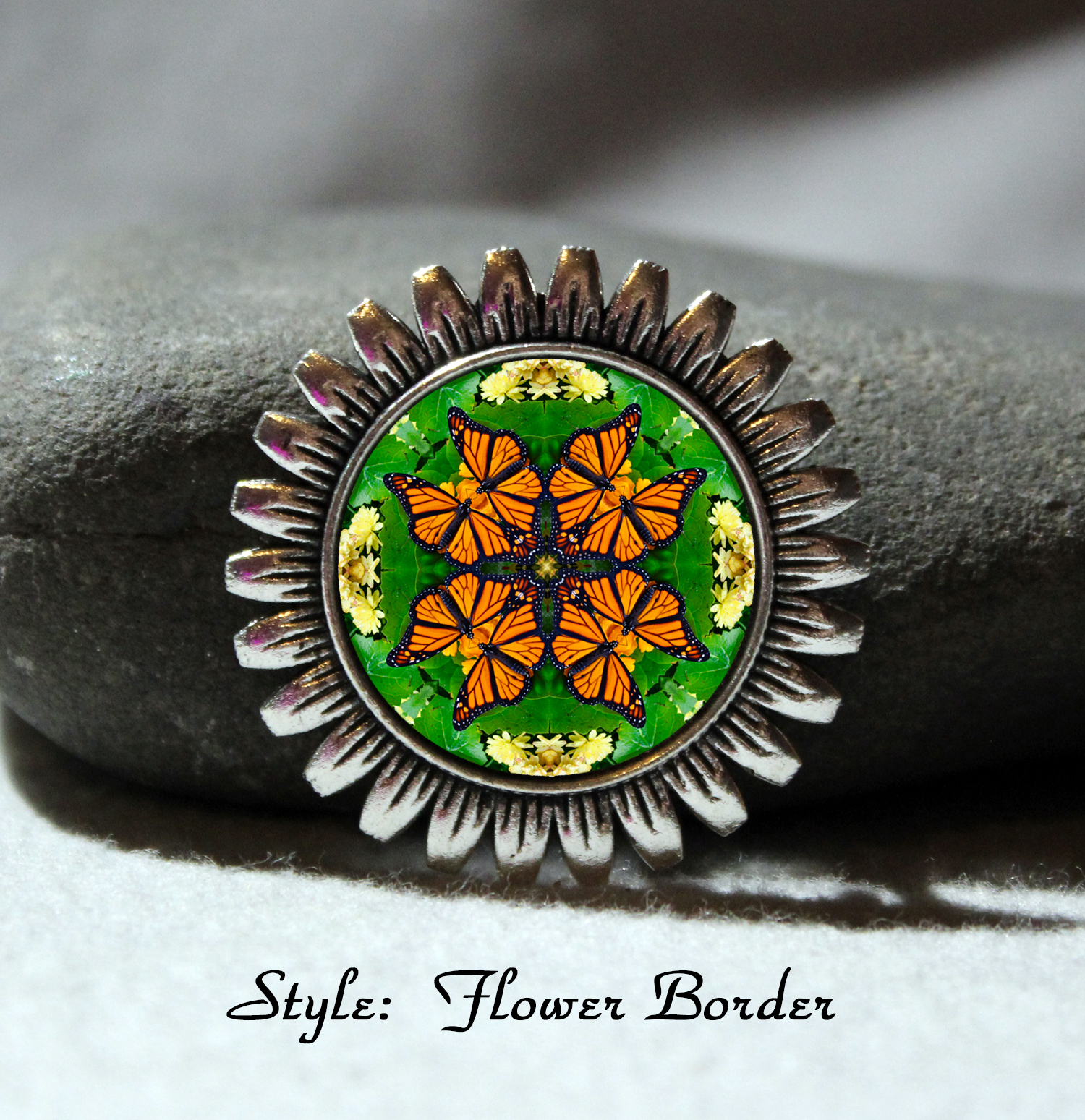 Brooch Lapel Pin Collar Pin Hat Pin Scarf Pin Monarch Butterfly Mandala Sacred Geometry Unique Gift For Her Monarch Mania