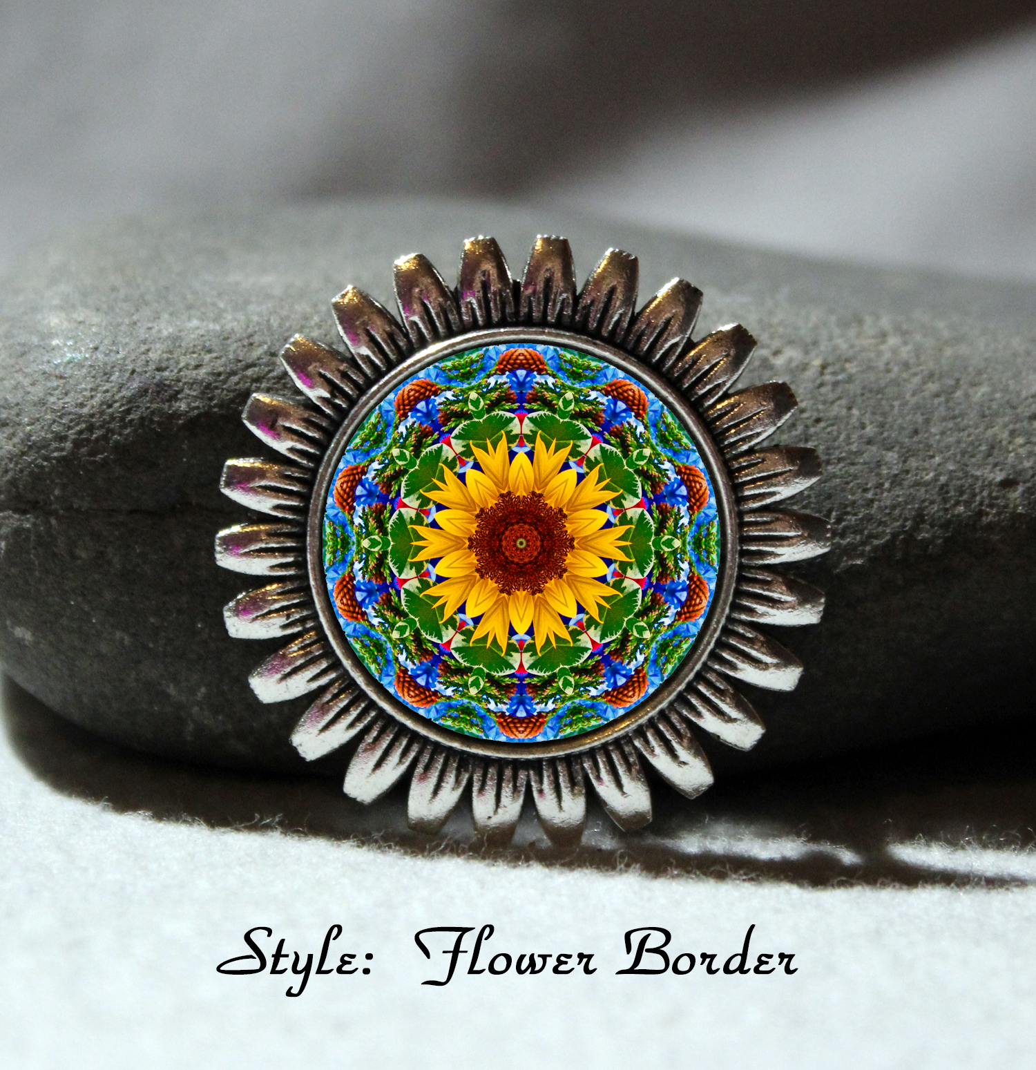 Brooch Lapel Pin Collar Pin Hat Pin Scarf Pin Sunflower Chakra Mandala Sacred Geometry Unique Gift For Her Unforgettable My Beauty Within