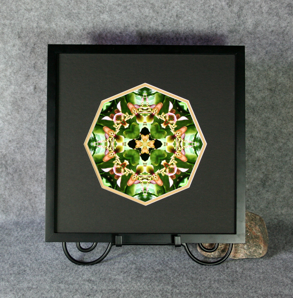 Orchid Sacred Geometry Wall Decor Mandala Wall Art My Hearts Desire Framed