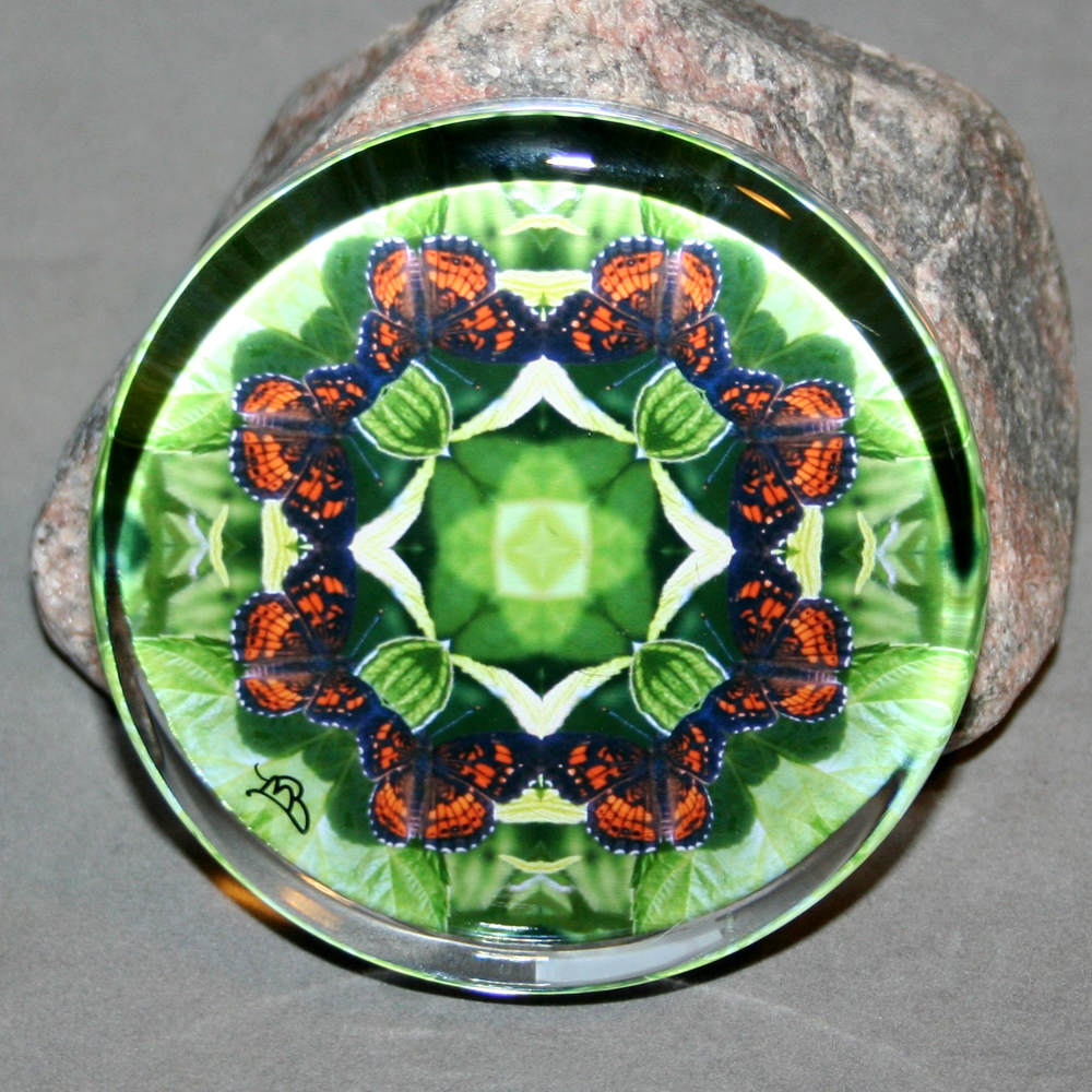 Butterfly Paperweight Mandala Sacred Geometry Kaleidoscope On a Wing and a Prayer