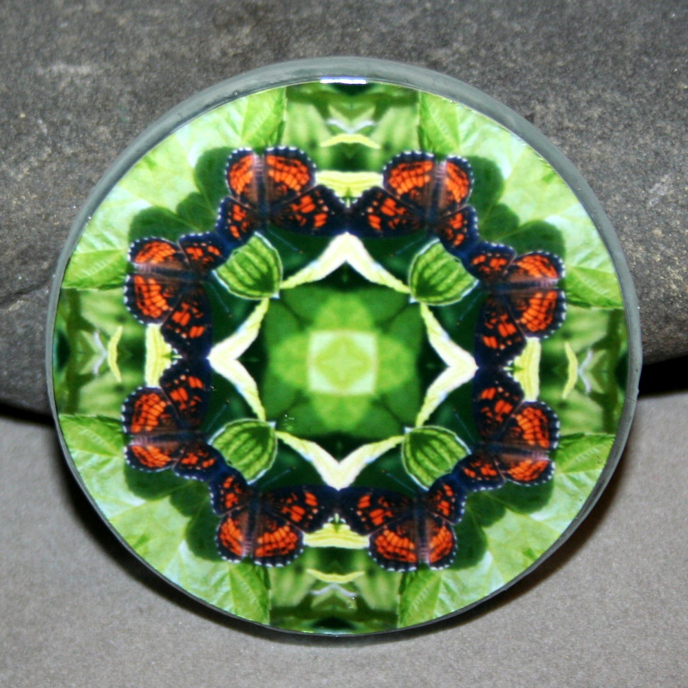 Butterfly Magnet Mandala Sacred Geometry Kaleidoscope On a Wing and a Prayer