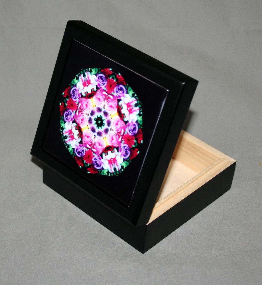 Rose Trinket Box Keepsake Box Decorative Storage Box Petals of Poise