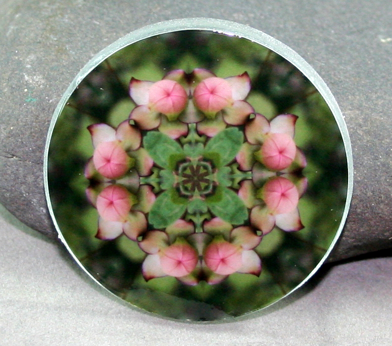 Flower Glass Magnet Kaleidoscope Sacred Geometry Mandala Picture Perfect