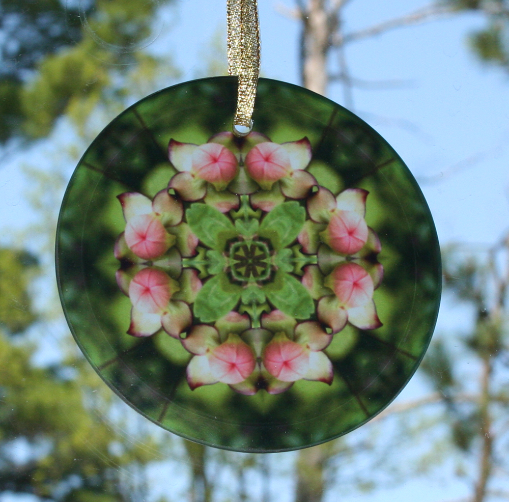 Pitcher Plant flower Glass Suncatcher Mandala Kaleidoscope Geometric Picture Perfect