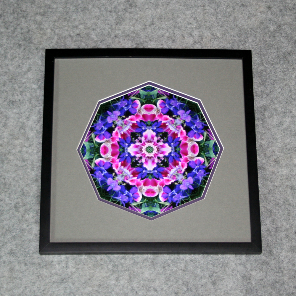 Wildflower Sacred Geometry Wall Decor Mandala Wall Art Pink Providence