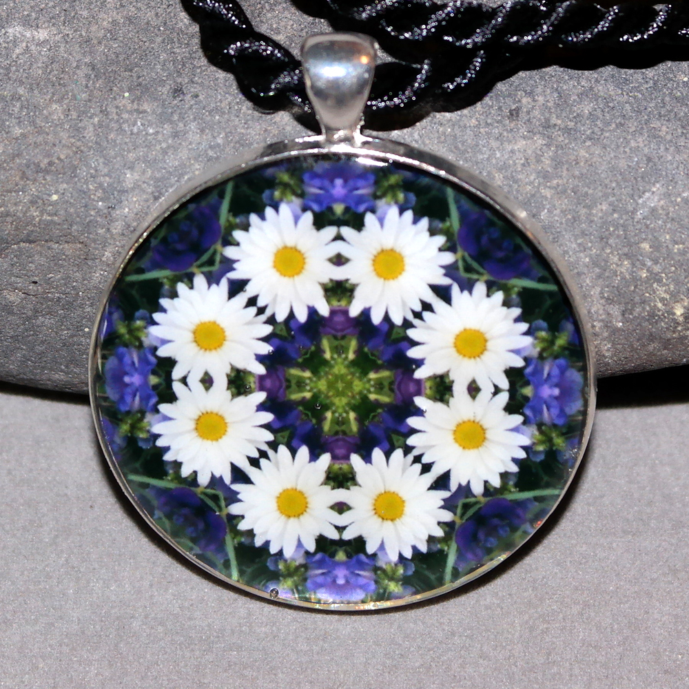 Daisy Pendant Sacred Geometry Mandala Kaleidoscope Necklace Secret Desire
