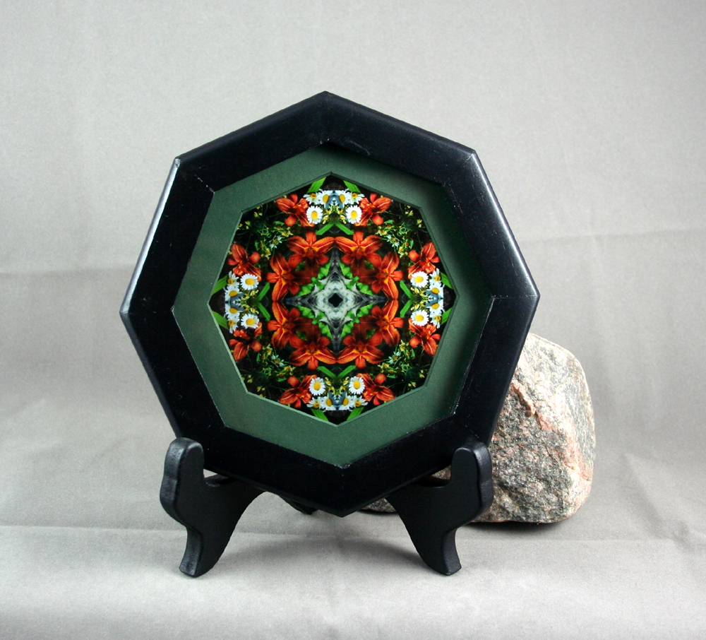 Lily Daisy Fine Art Photograph Sacred Geometry Kaleidoscope Framed Summer Dreams