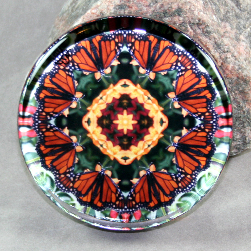 Butterfly Paperweight Mandala Sacred Geometry Kaleidoscope Summer Solace