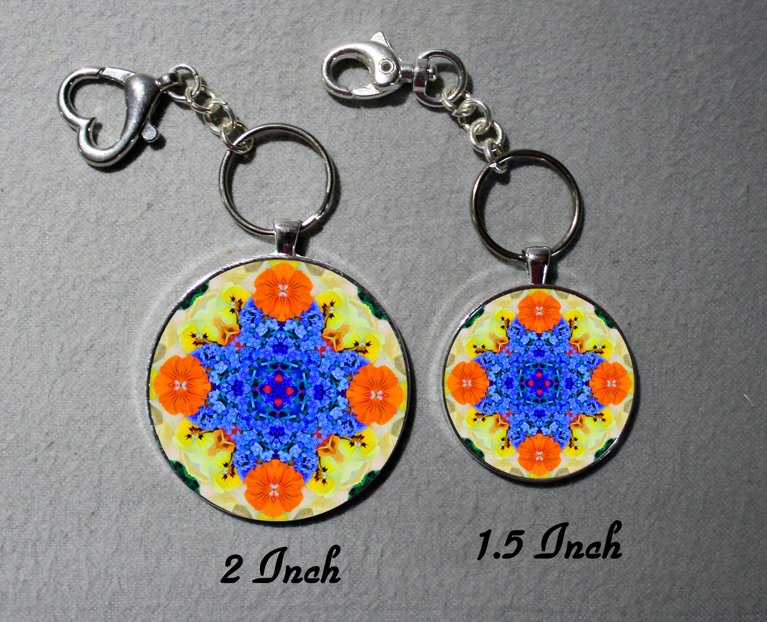 Key Chain Forget Me Not Mandala Purse Charm Bag Charm Unique Gift Tender Tribute