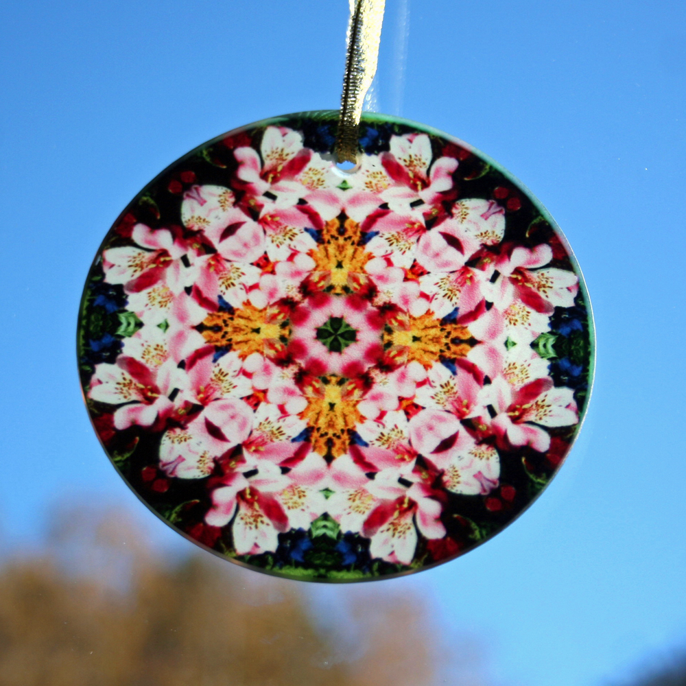 Lily Suncatcher Boho Chic Mandala Sacred Geometry New Age Kaleidoscope Tickled Pink