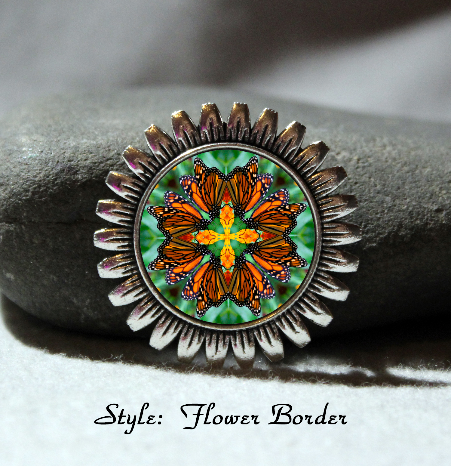 Brooch Lapel Pin Hat Pin Collar Pin Scarf Pin Monarch Butterfly Mandala Sacred Geometry Unique Gift For Her Timeless Treasure