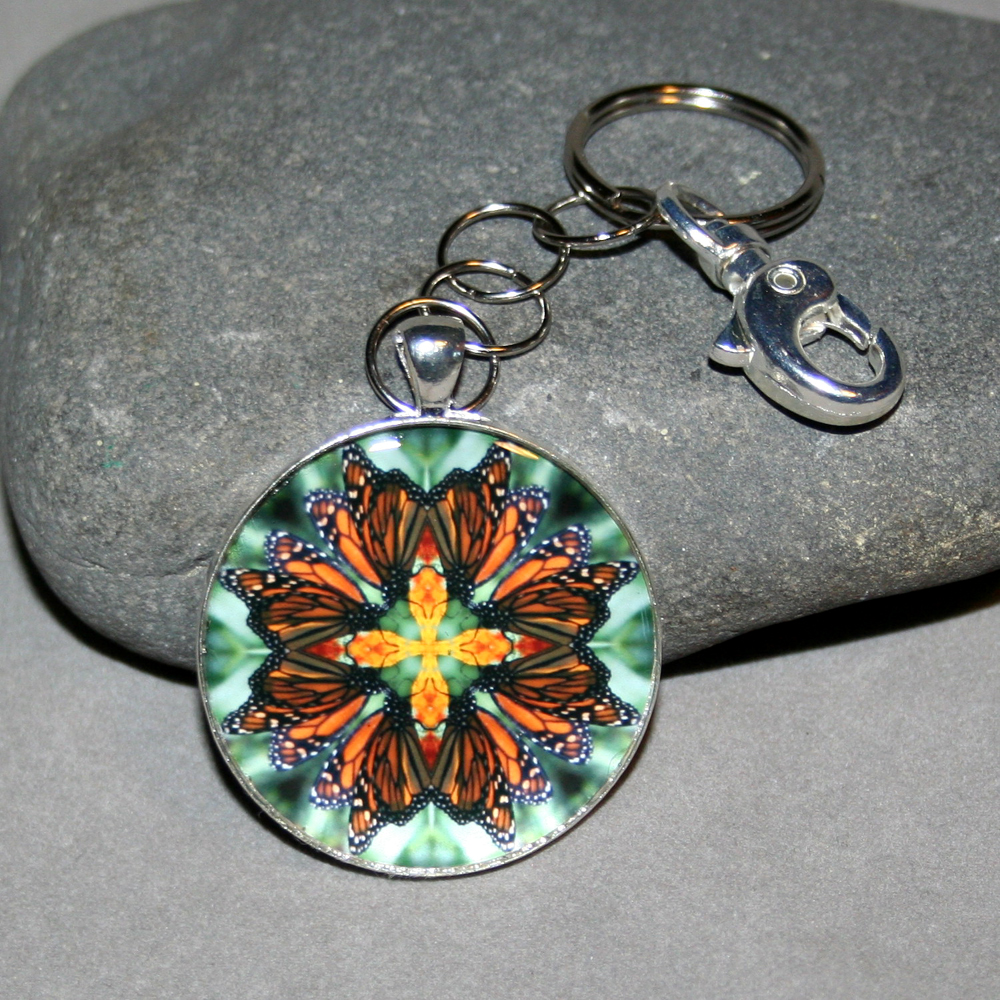 Butterfly Keychain Mandala Sacred Geometry Kaleidoscope Timeless Treasure