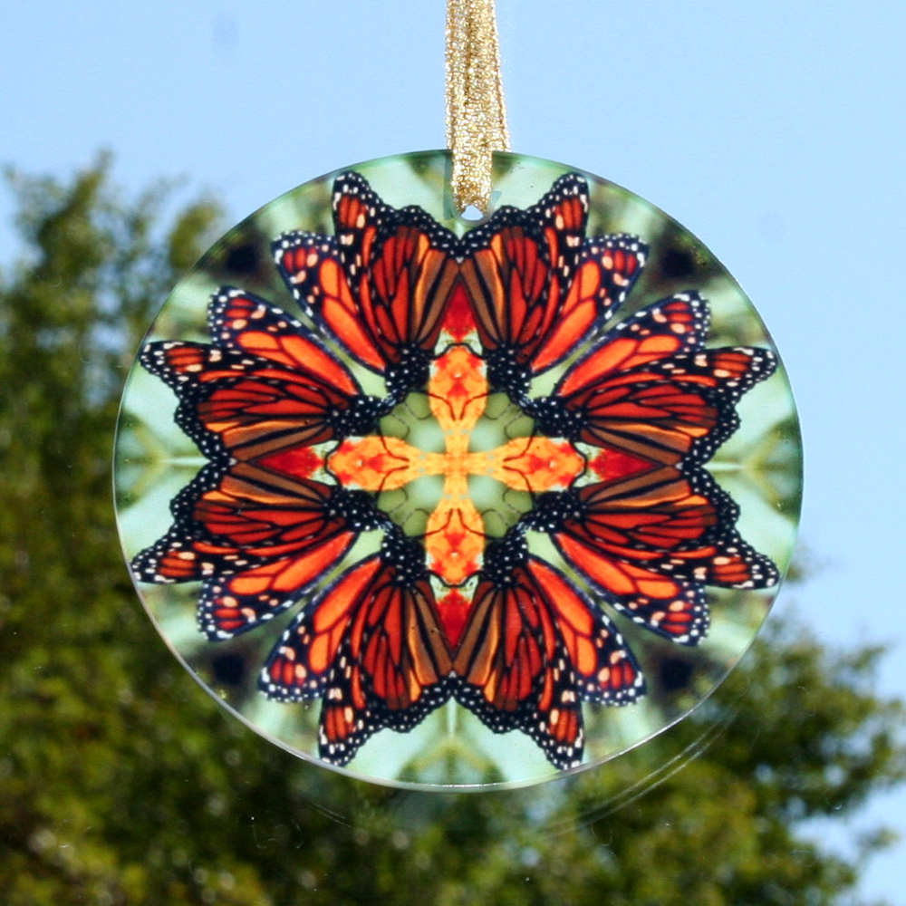 Monarch Butterfly Glass Suncatcher Home Decor Ornament Window Decor Mandala Meditation Zen Unique Gift For Her Yoga Gift 6