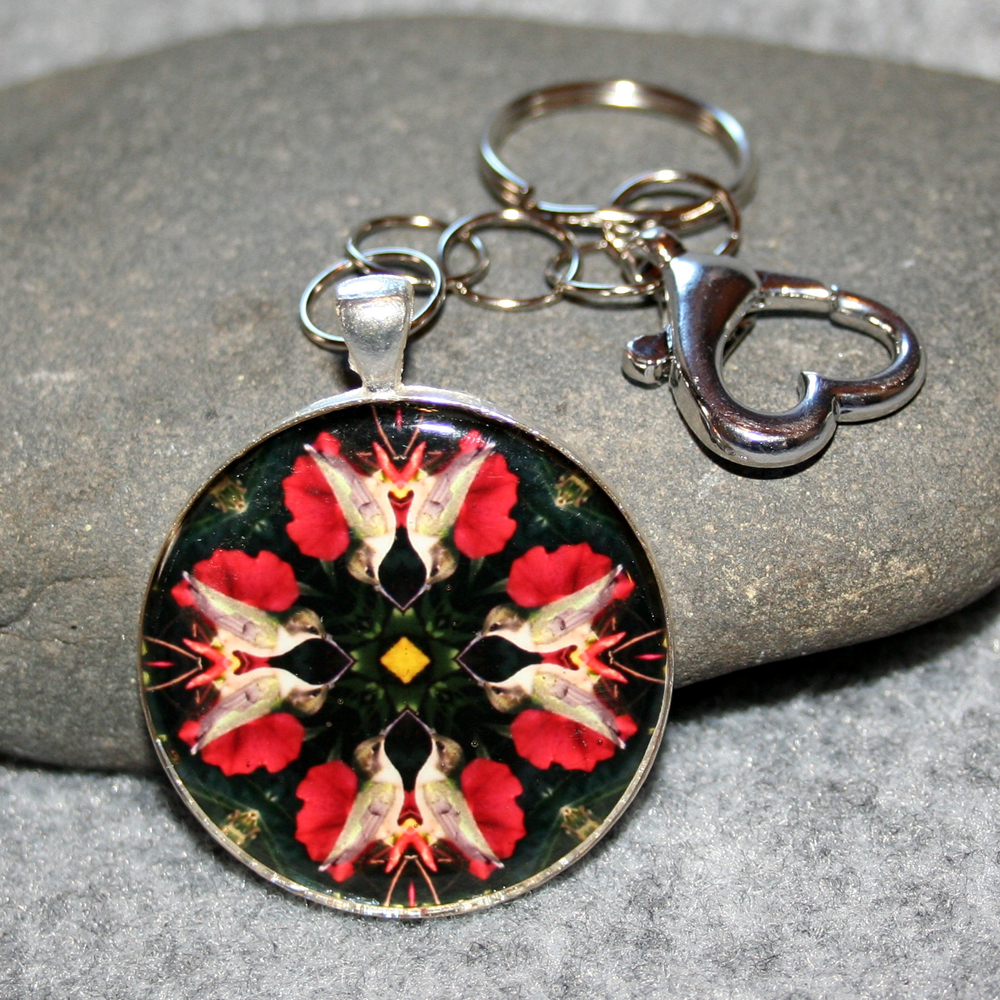 Hummingbird Key Chain Sacred Geometry Mandala Tiny Dancer