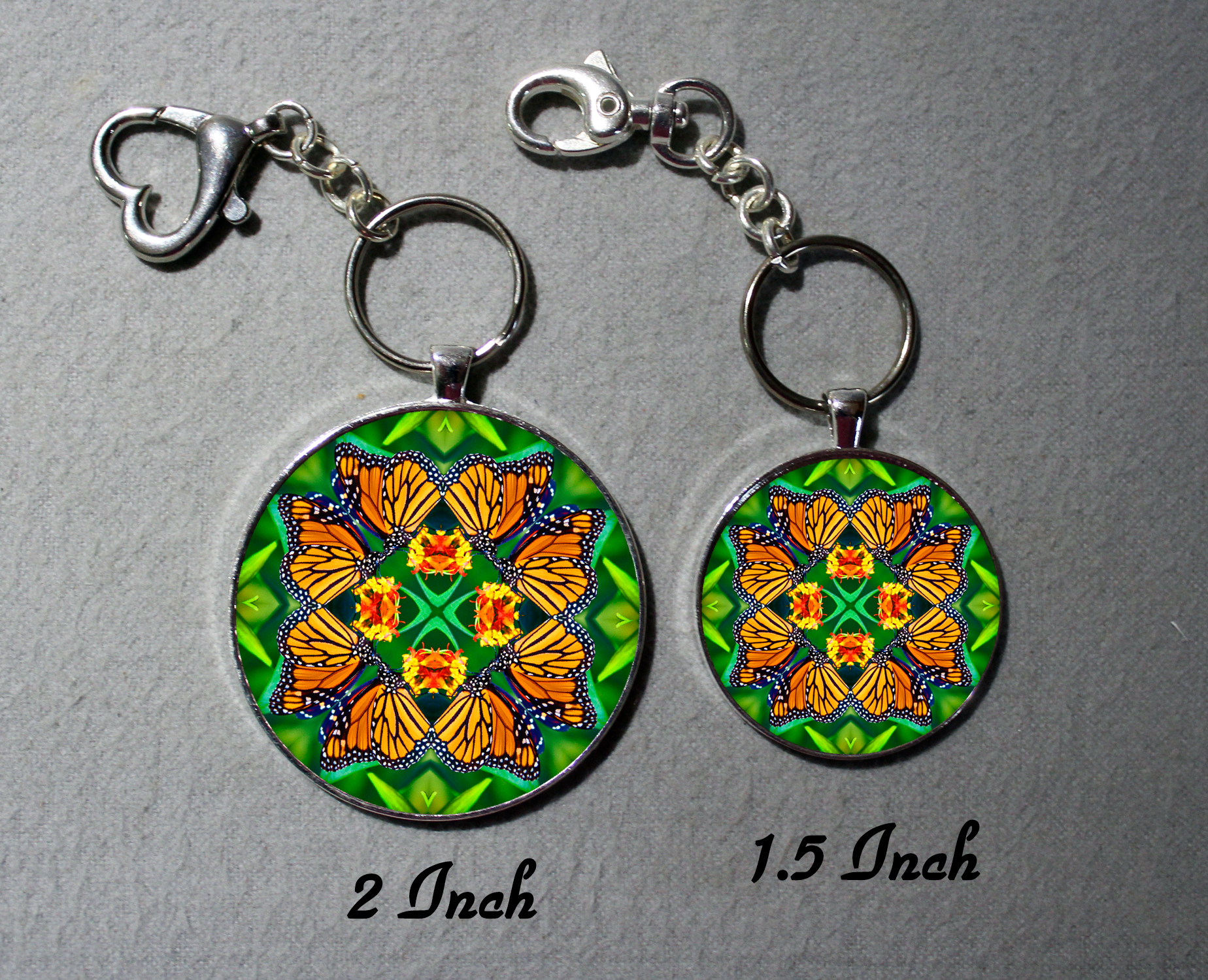 Keychain Monarch Butterfly Purse Charm Bag Charm Mandala Accessory Unique Gift Transcendence
