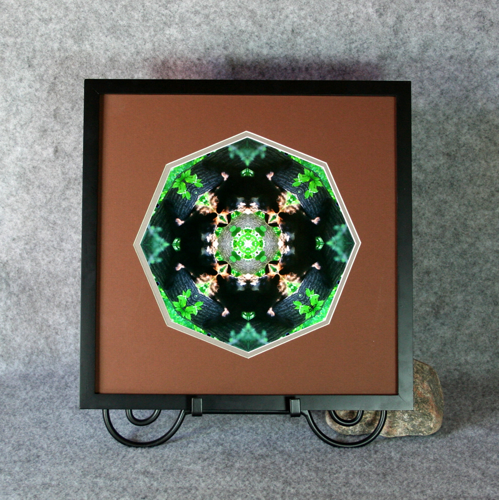 Bear Sacred Geometry Wall Decor Mandala Wall Art Tree Hugger Framed