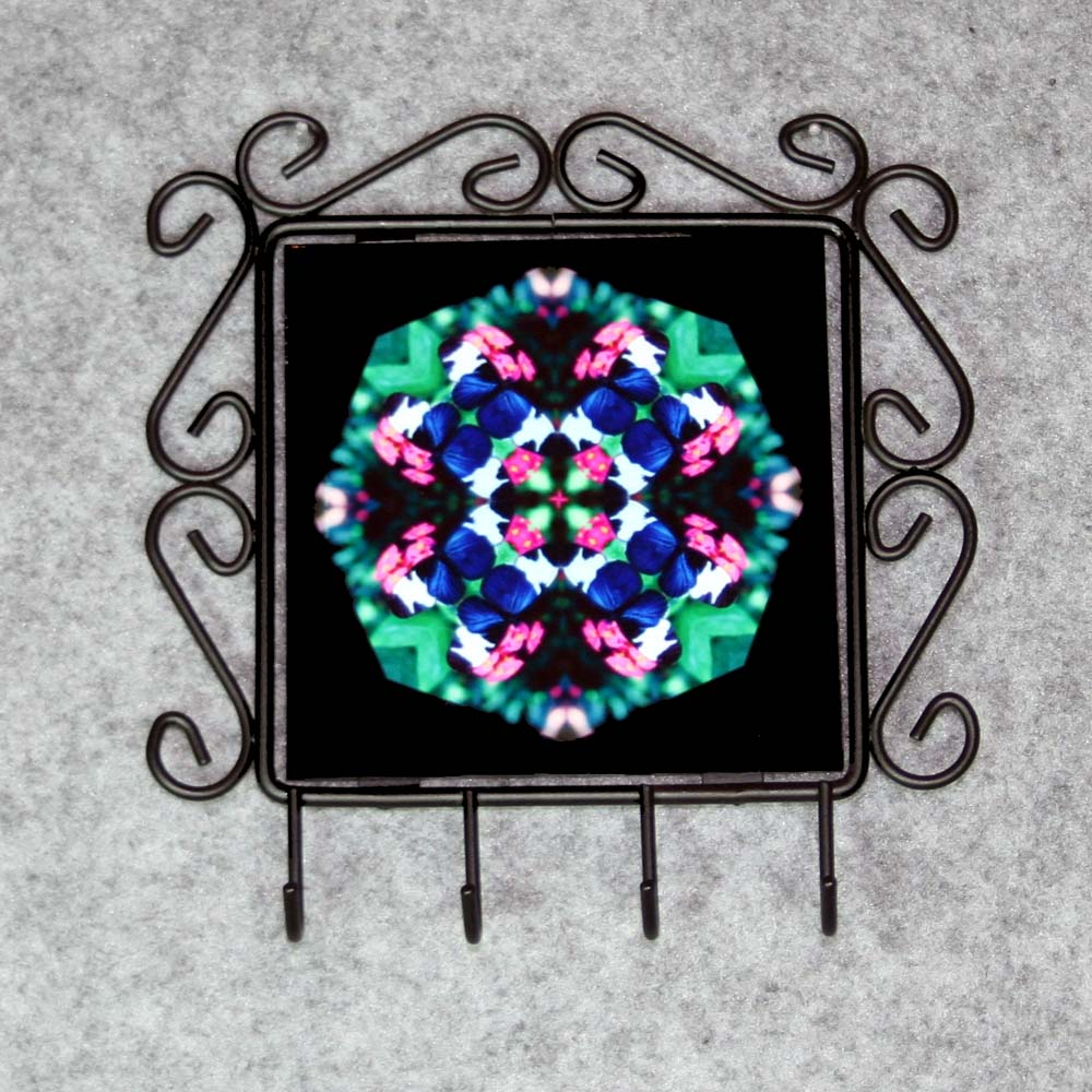 Butterfly Organizer Rack Jewelry Rack Key Rack Utensil Rack Boho Chic New Age Sacred Geometry Kaleidoscope Whimsical Persuasion