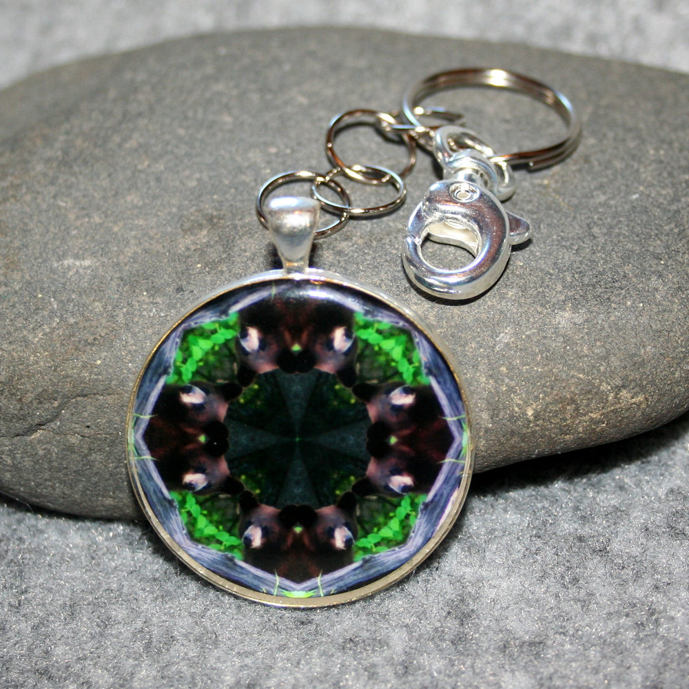 Bear Key Chain Sacred Geometry Mandala Woodland Wanderer