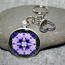 Crocus Key Chain Sacred Geometry Mandala Prelude of Spring