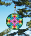 Rainbow Rose Chakra Glass Suncatcher Mandala Boho Chic New Age Sacred Geometry Hippie Kaleidoscope Meditation Zen Unique Gift For Her Flamboyant Harmony