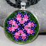 Bleeding Heart Pendant Sacred Geometry Mandala Kaleidoscope Necklace Love Struck