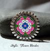 Brooch Lapel Pin Collar Pin Hat Pin Scarf Pin Daisy Mandala Sacred Geometry Unique Gift For Her A Love That Transcends