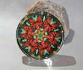 Glass Paperweight Monarch Butterfly Mandala Sacred Geometry Kaleidoscope A Myriad Of Mairti