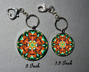 Keychain Monarch Butterfly Purse Charm Bag Charm Mandala Accessory Unique Gift A Myriad OF Maitri