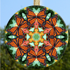 Glass Suncatcher Monarch Butterfly Mandala Zen Sacred Geometry Unique Gift For Her A Myriad of Maitri