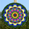 Glass Suncatcher Floral Mandala Zen Sacred Geometry Unique Gift For Her A Piece Of My Heart