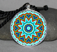 Chakra Circle Geometric Mandala Pendant Necklace Jewelry LGBT Gay Pride Boho Jewelry b