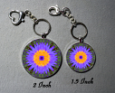 Key Chain Lotus Flower Chakra Purse Charm Bag Charm Mandala Accessory Amethyst Supernova