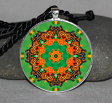 Monarch Butterfly Necklace Pendant Charm Gift Sacred Geometry Geometric Mandala Necklace b