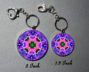Key Chain Heart Chakra Mandala Yoga Purse Charm Bag Charm Unique Gift Bewitched