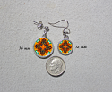 Earrings Dainty Tiny Double Sided Dangle Monarch Butterfly Charismatic Essence