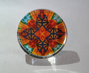 Glass Paperweight Monarch Butterfly Mandala Zen Sacred Geometry Kaleidoscopic Charismatic Essence