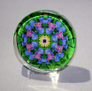 Glass Paperweight Iris Mandala Desk Accessory Bosses Gift Teacher Gift Coworker Gift Coronet Of Courage